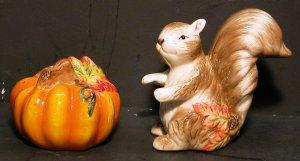 Squirrel & Pumpkin Salt & Pepper Shaker - New In Box