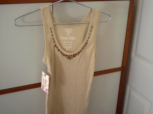 embellished  beaded tank top  with free next day shipping