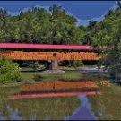 Original Cross Stitch Pattern Covered Bridge Over Water
