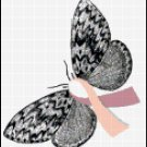 Breast Cancer Awareness Butterfly Cross Stitch Pattern
