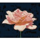 Counted Cross Stitch Original Pattern - Simplicity A Pink Rose