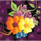 Counted Cross Stitch Original Pattern - Colorful Floral