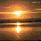 Original Counted Cross Stitch Pattern of Beach Sunset