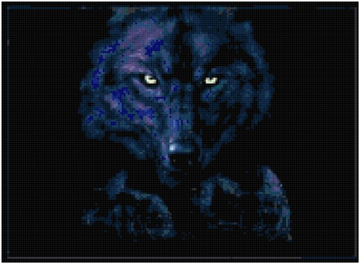 Counted Cross Stitch Pattern - Dark Wolf