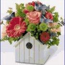 Cross Stitch Pattern - Birdhouse Flower Pot