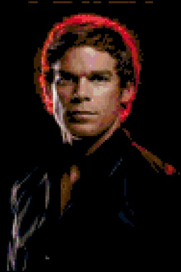 Cross Stitch Pattern of Michael C Hall as Dexter