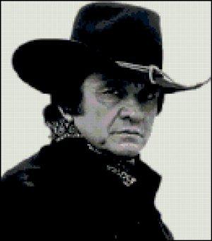 Johnny Cash Cross Stitch Pattern