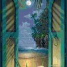 Original Cross Stitch Pattern - Tropical Window
