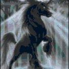 Counted Cross Stitch Pattern - Dark Unicorn
