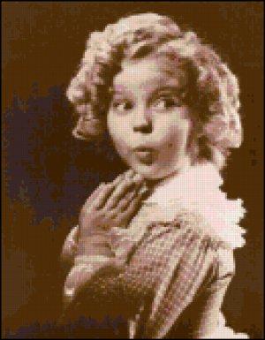 Shirley Temple cross stitch pattern