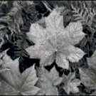 Leaves in Black and White Cross Stitch PatternFrom crossstitchnerd