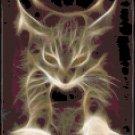 Counted Cross Stitch Pattern - Lightening Cat