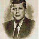 Cross Stitch Pattern - Portrait of John F Kennedy