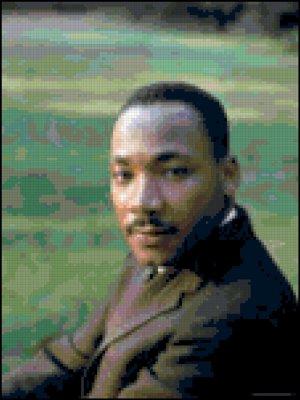 Cross Stitch Pattern of Martin Luther King, Jr.