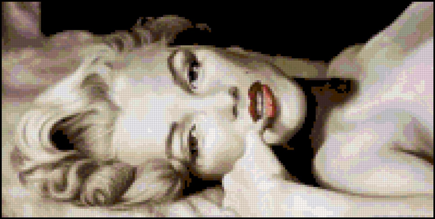 Counted Cross Stitch Pattern of Marilyn Monroe Nude