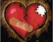 Mending a Broken Heart Original Cross Stitch Pattern