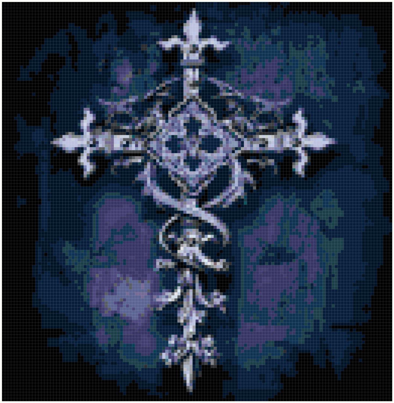 Gothic Cross of Hope Original Cross Stitch PatternGothic Cross of Hope Original Cross Stitch Pattern
