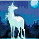 Unicorn and Moon Original Cross Stitch Pattern