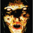 Scary Face Original Cross Stitch Pattern