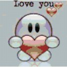 Love you original cross stitch pattern