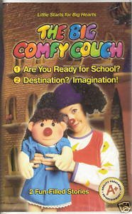 The Big Comfy Couch (VHS, 2004)**Brand New** Are You Ready for School/Destination? Imagination?