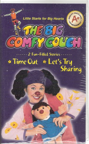 The Big Comfy Couch Vhs 2004 Brand New Time Out Let 39 S Try Sharing