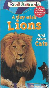 A Day With Lions and Other Cats (VHS) *New*