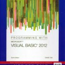Programming with Microsoft Visual Basic 2012 6th sixth INSTRUCTOR'S EDITION Diane Zak