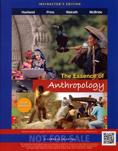 NEW - The Essence of Anthropology 3rd ed. INSTRUCTOR'S EDITION 3e Haviland