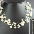 Free Shipping Floating pearl necklace