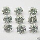 30 stones 1mm WHITE ROUND BRILLIANT POLISHED DIAMONDS
