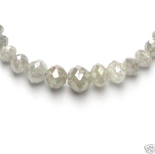 50+ Carats WHITE POLISHED Rough Cut Diamond Beads