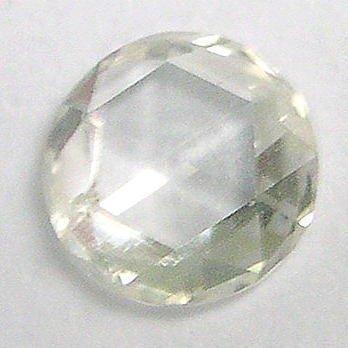 4.5mm WHITE ROUND Rough ROSE CUT POLISHED DIAMONDS Gems