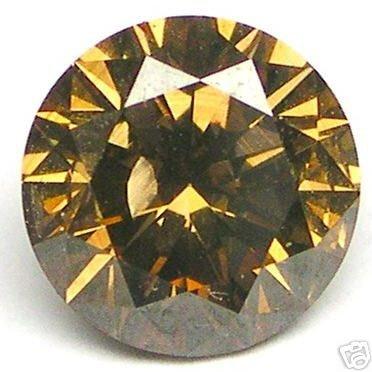 1.39 Carat Round Brilliant Cut COGNAC Polished Diamonds