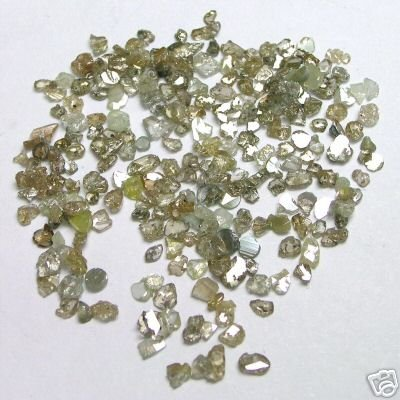 3+ Carats Rose Cut Flat ROUGH POLISHED DIAMONDS