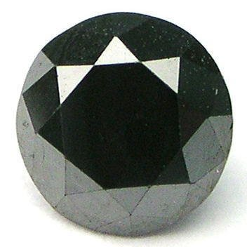 1/3 carat BLACK Brilliant Cut ROUND POLISHED DIAMONDS