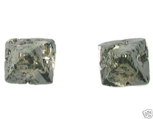 3.45 Carat Crystal Octahedron SAWN ROUGH DIAMONDS PAIRS