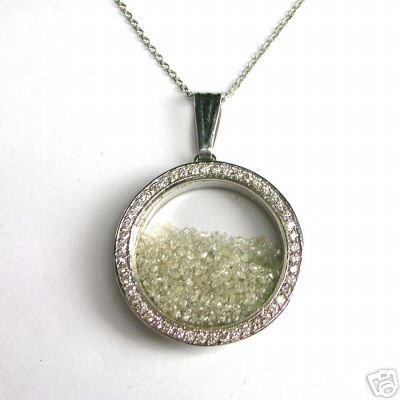 5+ Carat ROUGH & POLISHED DIAMONDS JEWELRY Necklace Gem