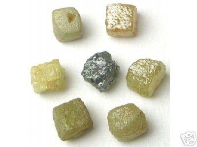 5+ Carats Natural Rough Diamond Diamonds 3/4 Cubes Gem
