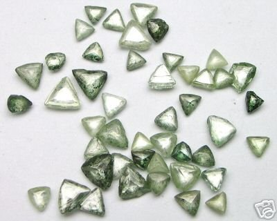 7.40 Carats Uncut Fancy GREEN Maccle Raw ROUGH DIAMONDS