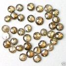 3+ Carats COGNAC ROUND Rough ROSE CUT POLISHED DIAMONDS