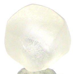 0.87 Carats Natural Uncut WHITE CUTTABLE ROUGH DIAMONDS
