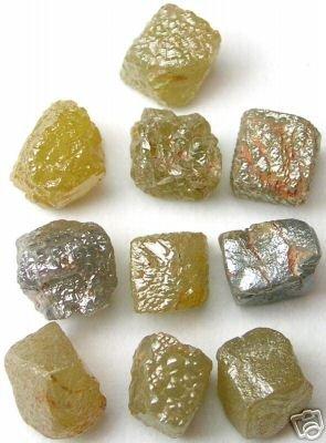 10+ Carats Uncut Natural Rough Cubic  Cube Diamonds 1/1
