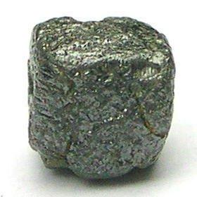 1.18 Carat Natural JET BLACK Cube Raw ROUGH DIAMONDS