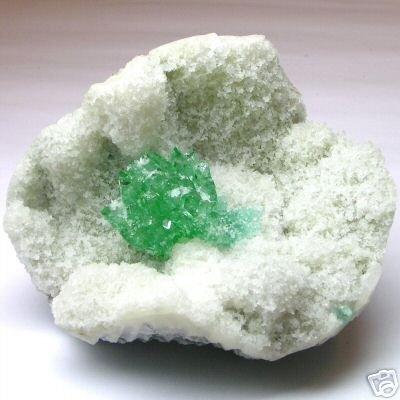GREEN APOPHOLYTE Natural Unworked IN QUARTZ MATRIX