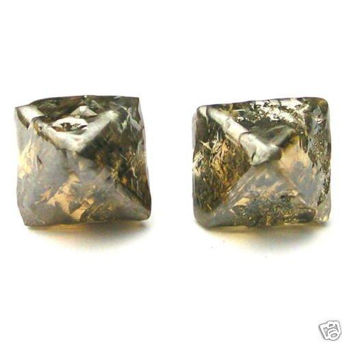 7.22 Carats Crystal Octahedron ROUGH DIAMONDS PAIRS