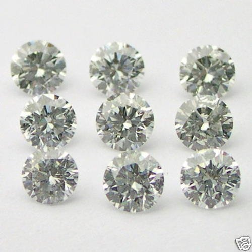 1+ Carats 3mm WHITE ROUND BRILLIANT POLISHED DIAMONDS