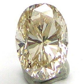 0.65 Carats OVAL Cut LIGHT BROWN Polished Diamonds