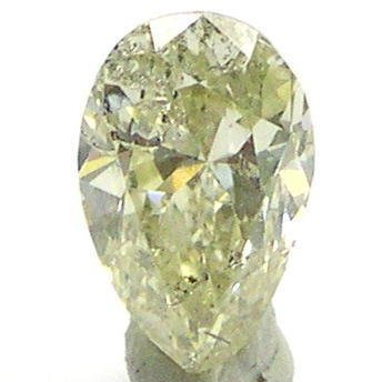 0.79 Carat FANCY YELLOW PEAR SHAPE Polished Diamonds
