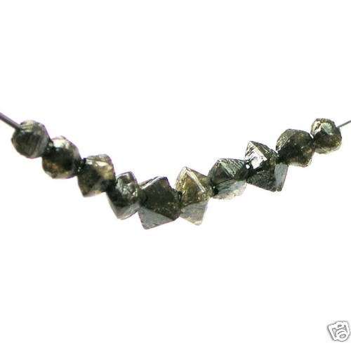 5+ Carats Loose Natural Octahedron Rough Diamonds Beads